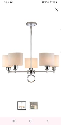 Canvas Chandelier 5 Light -OBO