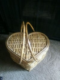 Heart shape picnic basket