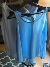 White and light blue tank blouses - small Columbia, 21044