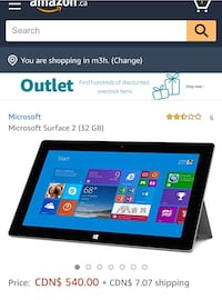 Surface 2 with Keyboard and HDMI adapter Richmond Hill, L4B 1H3