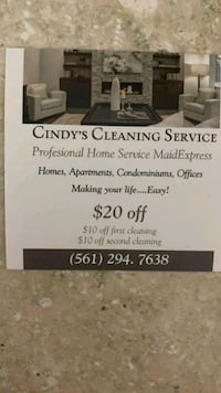 cleaning service house apartment etc Lake Worth
