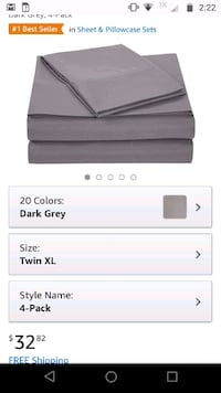 Amazon basics twin xl sheet set Mansfield, 44903