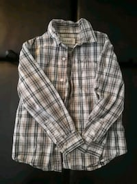 Old Navy white and gray plaid dress shirt Calgary, T2J 6G1