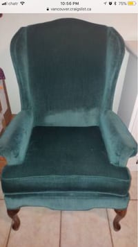 black and gray fabric padded armchair Surrey, V3T 4M4