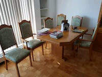 FOR SALE  solid wood table only and 6 chairs  Toronto, M3H 2R9