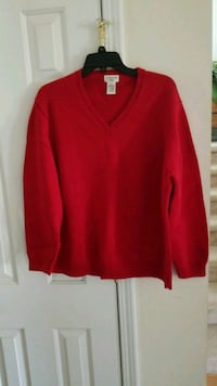 Women's red v-neck sweater, size 2X West Columbia, 29170