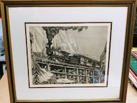 Collectors Edition Etching/Art on Murillo Paper by Alan Gaines.  Certified Authentic # s-569 (painting, art, etching, colors) Concord