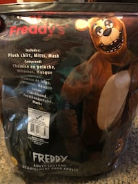 Five Nights At Freddy's, Freddy Fazbear Costume, Adult Med  Groveland, 01834