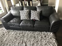 black leather 2-seat sofa Coppell, 75019