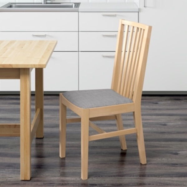 Surprising Ikea New Norrnas Birch Grey Dining Chair Pdpeps Interior Chair Design Pdpepsorg