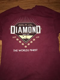 maroon Diamond printed crew-neck t-shirt