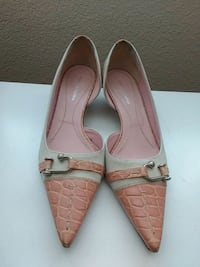 pair of brown leather pointed-toe flats Santa Clara, 95054