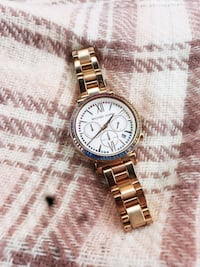 Gold multicolor facetop MK watch that works!!! Grande Prairie