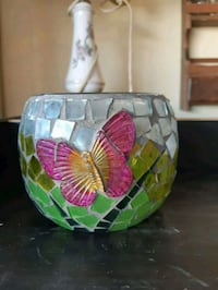 Butterfly mosaic candle holder Edmonton, T6L 3A5