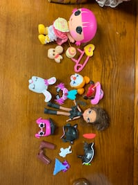 assorted-character plastic toys