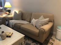 Beige/Gold fabric 2-seat sofa and chair Charlotte, 28204