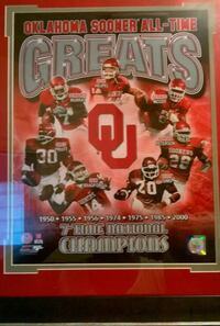 Oklahoma Sooner All Time Greats Authentic Picture Edmond, 73003