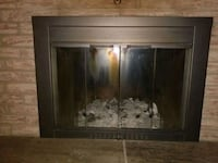 Wood burning fireplace glass doors with built-in screen Toronto, M1T 1W2