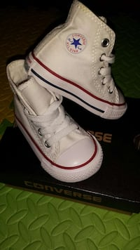 white converse (infant) New York, 11208