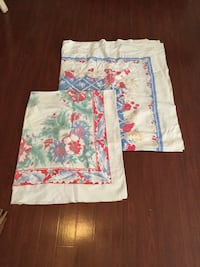 White, blue, and red floral Tablecloth  Ruston, 71270