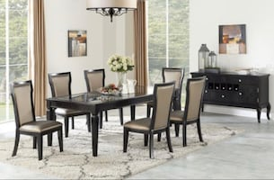 Gorgeous 7Pc Rectangular Dining set