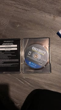 Call of Duty Infinite Warfare PS4 game disc North Vancouver, V7L 1R3