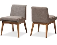 Baxton Studio Nexus Dining Side Chair in Gray and Brown (Set of 2) Charlotte, 28273