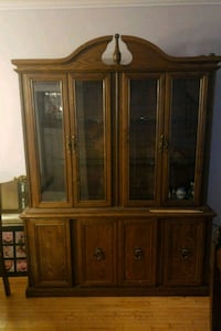 brown wooden framed glass china cabinet Brampton, L6X 1M6