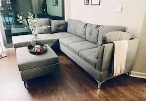 New Sofa Sectional Chaise w/ Ottoman