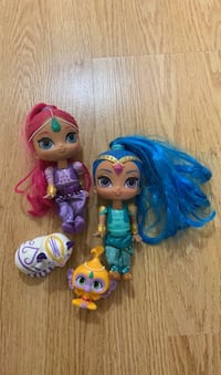 Shimmer, shine and Leah Dolls with Tala and Nahal Vaughan, L4H 3B6