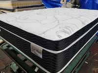 """14"""" thick luxury hybrid pillow top mattress. Foam Encase with individual pocket coil springs. Cool Gel memory foam in pillow top. Price includes tax and local delivery. Cash only.  Full-$320 Mattress only-$360  Queen Mattress only-$385 Mattress & box spri Long Beach, 90803"""