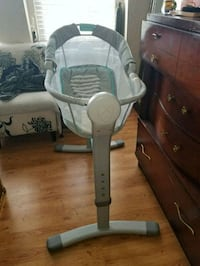baby's white and gray high chair Baltimore, 21217