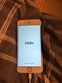 Gold iphone 6 with red case