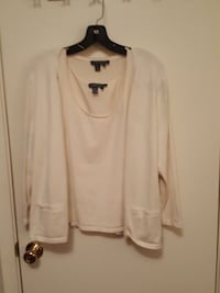 Ralph Lawrence off-white shell and cardigan size L