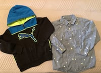 Boys Puma Zippered Hoodie Size 4 Children's Place Shirt Size 5.   $6 for Both Toronto, M9C 4W1