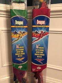 "Kites- REALLY COOL dragon kites / 16"" wing spand - ready to go - easy to fly - $10 each - used once! Vienna, 22180"