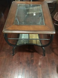 Negotiable- 3 glass & wooden stylish tables