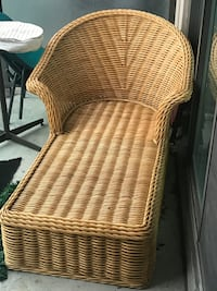 Thick Wicker Chaise Lounger