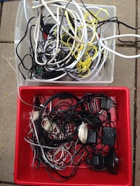 Miscellaneous electronic cords/ ac/dc adapters/plugs etc LOTS SALE ALL FOR $5