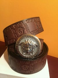 Brown Belt with Silver Buckle in Box  Mississauga, L5R 3A9