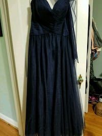Women's Navy Strapless Dress- Never Worn