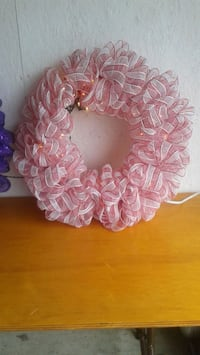 two pink and white floral wreath Orangeville, L9W 5H2