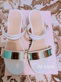 white-and-brown leather open-toe sandals Vancouver, V5S 0A8