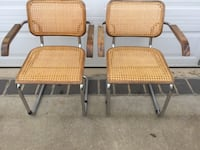 two brown wicker padded chairs Capitol Heights, 20743