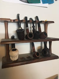Antique pipe collection (rack included) Calgary, T3C 3E6