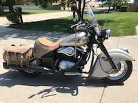 black and light brown touring motorcycle Lincoln, 68528