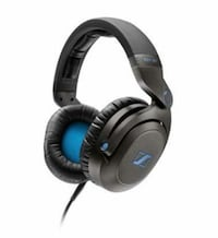 Black and blue corded headphones Cleveland