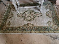 white and green floral area rug East Sparta, 44626