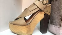New Sixty Seven sandal leather wood platform wedge Anthropologie  Georgetown, L7G 3Z5