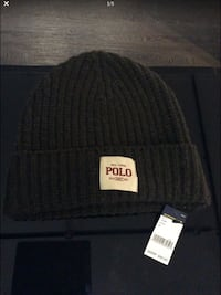 Polo By Ralph Wool Beanie With Polo Patch New York, 11237